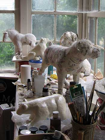 5 Animal Sculptures in Progress