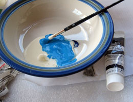 Paper Mache Bluebirds, Step 11
