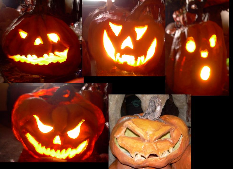Lighted Paper Mache Pumpkins