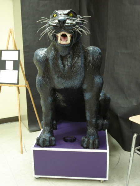 Paper Mache Panther from Royal Valley Middle School