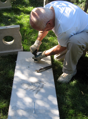 My Father Adding the Bolts