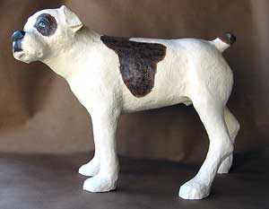 Bulldog sculpture, another view.