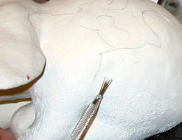 Paper Mache Lop-Eared Rabbit, Step 10