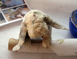 Paper Mache Lop-Eared Rabbit, Step 7