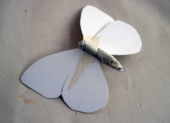 Paper Mache Butterfly, Step 4