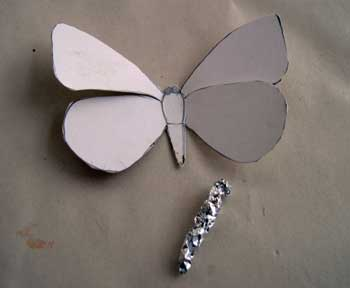 Paper Mache Butterfly, Step 3