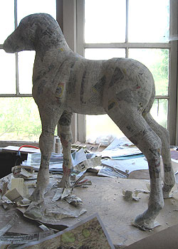 Paper Mache Colt, Getting Closer