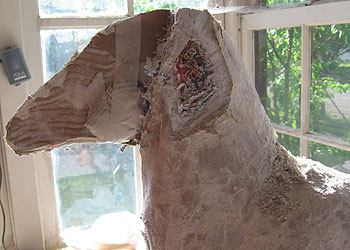 Paper Mache Horse Head, Starting Over