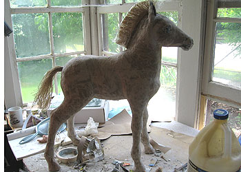 Paper Mache Horse, Almost Done