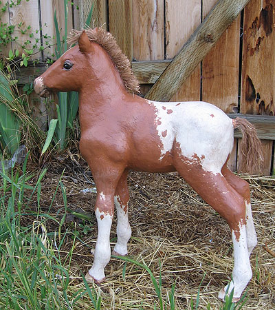 Paper Mache Colt, Left Side