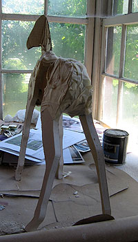 Legs Attached, Shown from Behind