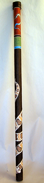 Painted Paper Mache Didgeridoo