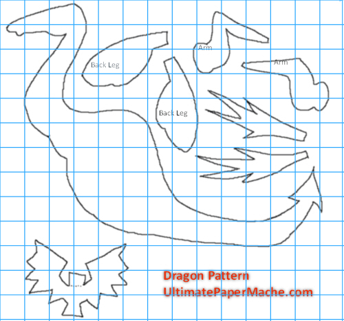 Pattern for Dragon Sculpture