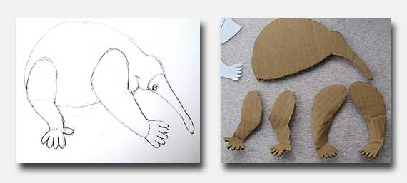 Make a paper mache echidna ultimate paper mache for Making paper mache animals
