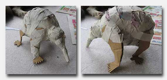 Make a Paper Mache Echidna
