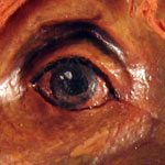 Painting Eyes on Paper Mache