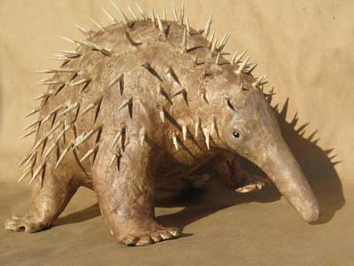How to Make a Paper Mache Long-Beaked Echidna
