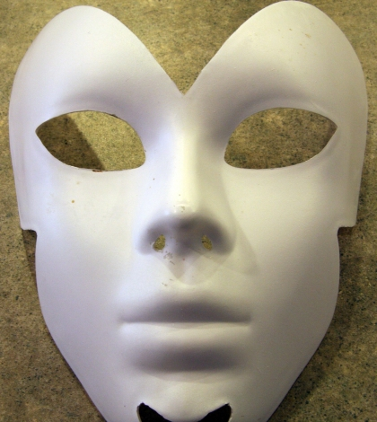 Mold for Paper Mache Mask