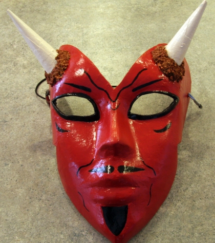 Paper Mache Devil Mask