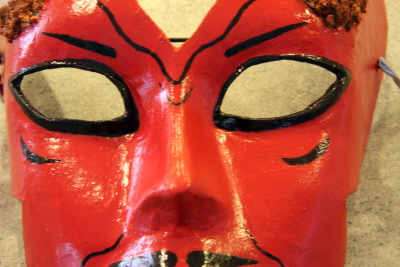 Paper Mache Mask, Close-Up