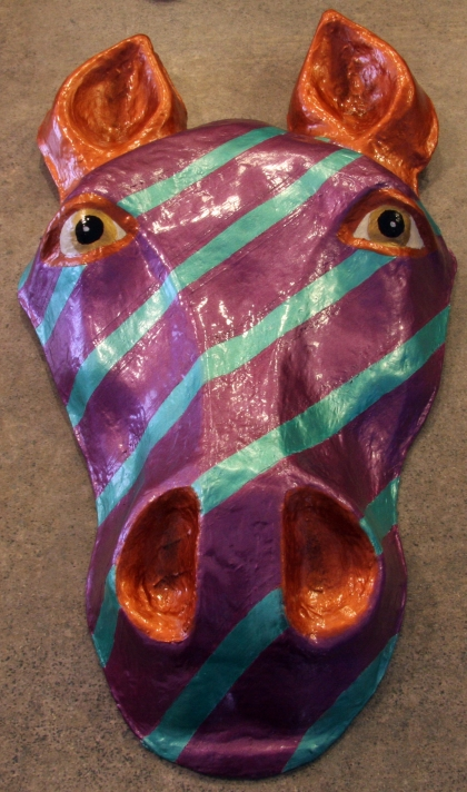 Paper Mache Horse Mask