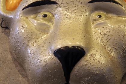 Paper Mache Cat Mask