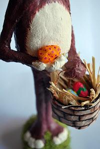 Paper Mache Bunny Detail