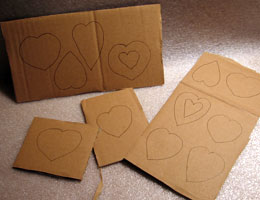 Paper Mache Hearts, Step 1