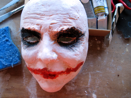 Adding Makeup to the Joker Mask