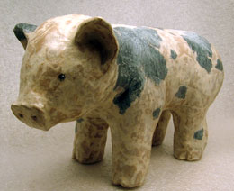 Completed Paper Mache Piggy Bank