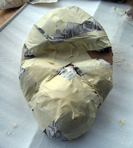 Paper Mache Orangutan Mask, Step 1