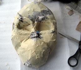 Paper Mache Orangutan Mask, Step 2