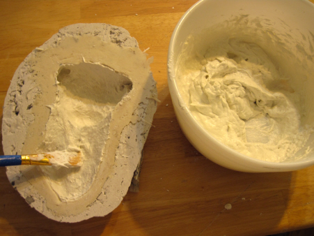 Adding the New Paper Mache Recipe to the Mold