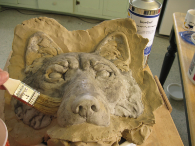Silicon Mold for Wolf Wall Hanging, Step 1