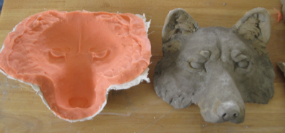 Silicone Mold for Wolf Wall Hanging