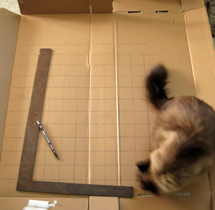 Cardboard Grid for Snowy Owl Armature
