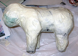 Paper Mache Piggy Bank, Step 4