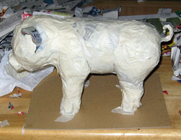 Paper Mache Piggy Bank, Step 5