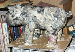 Paper Mache Piggy Bank, Step 6