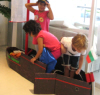 Child-Sized Paper Mache Boat