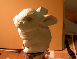 Paper Mache Dutch Rabbit, Step 5