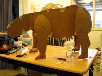 Baby Rhino Armature Frame