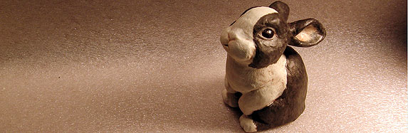 Paper Mache Rabbit Sculpture