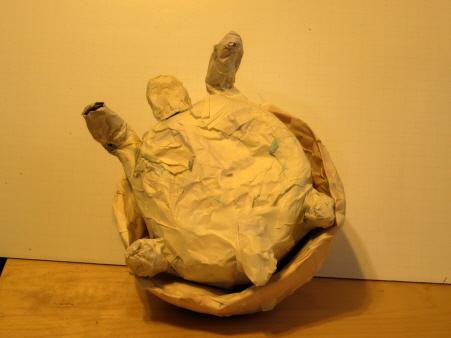 Ploughshare Tortoise Sculpture, Step 3a