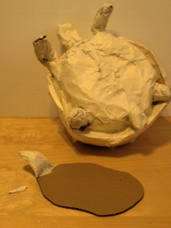Ploughshare Tortoise Sculpture, Step 4