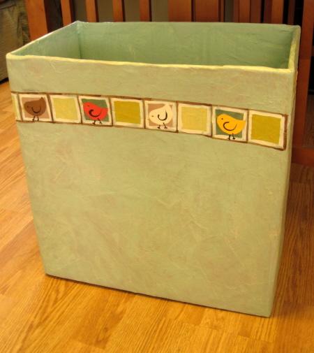 Paper Mache Waste Paper Basket