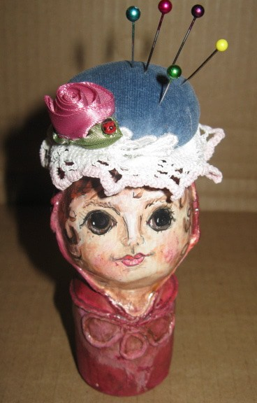Paper Mache Pin Cushion