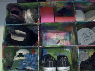 Paper Mache Shoe Storage Wall Unit