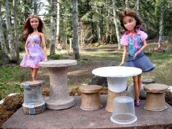 Christine Majul's Paper Mache Doll Furniture