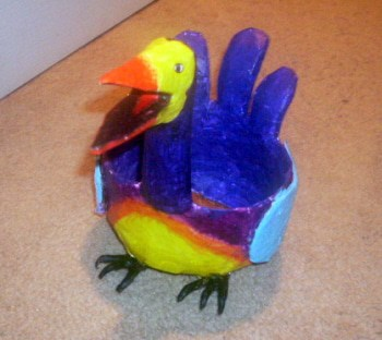 Monica Franco's Paper Mache Bird Bowl